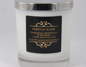 Cardamon Geranium & Orange (Balancing & Warming) Essential Oil Std Candle