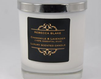 Chamomile & Lavender Essential Oil Std Candle (Aids Tension and Stress)