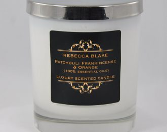 Patchouli Frankincense & Orange (Soothing & Grounding)  Essential Oil Std Candle