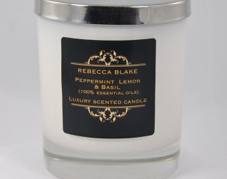 Peppermint Lemon & Basil Essential Oil Std Candle (Aids Concentration and Focus)