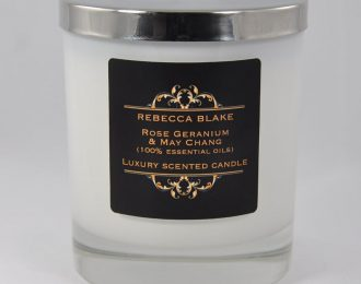 Rose Geranium & May Chang Essential Oil Std Home Candle (Balancing & Uplifting)