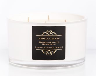Bamboo & White Grapefruit 4 Wick Luxury Candle