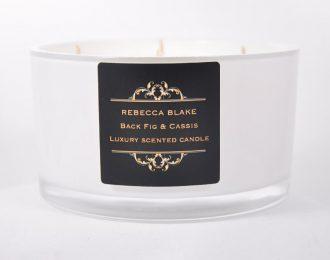 Black Fig & Cassis 4 wick Luxury Candle