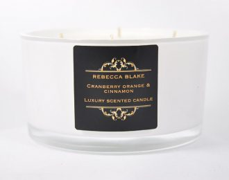 Cranberry Orange & Cinnamon 4 Wick Luxury Candle