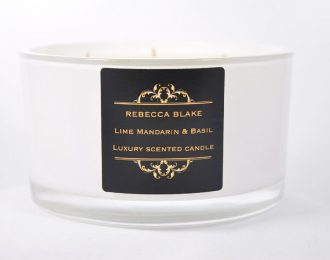 Lime Mandarin & Basil 4 Wick Luxury Candle