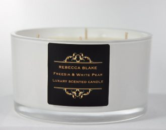 Freesia & White Pear 4 Wick Luxury Candle