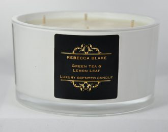 Green Tea & Lemon Leaf 4 Wick Luxury Candle