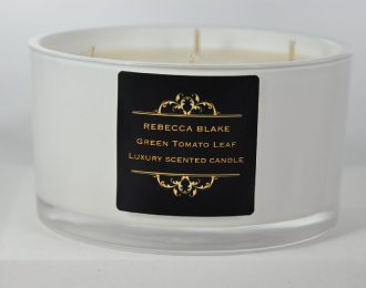 Green Tomato Leaf 4 Wick Luxury Candle