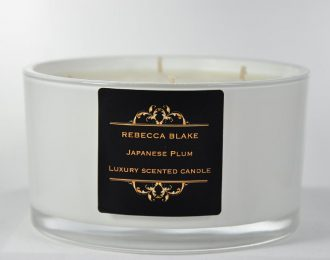 Japanese Plum 4 Wick Luxury Candle